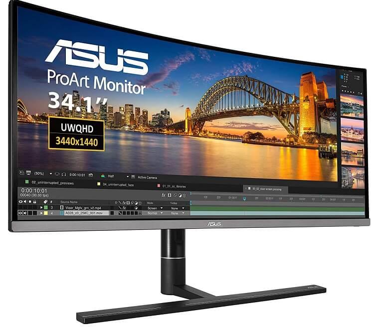 ASUS ProArt PA34VC 34inch ultrawide monitor