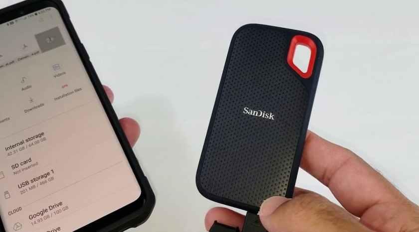 SanDisk 1TB Extreme Portable SSD file transfer