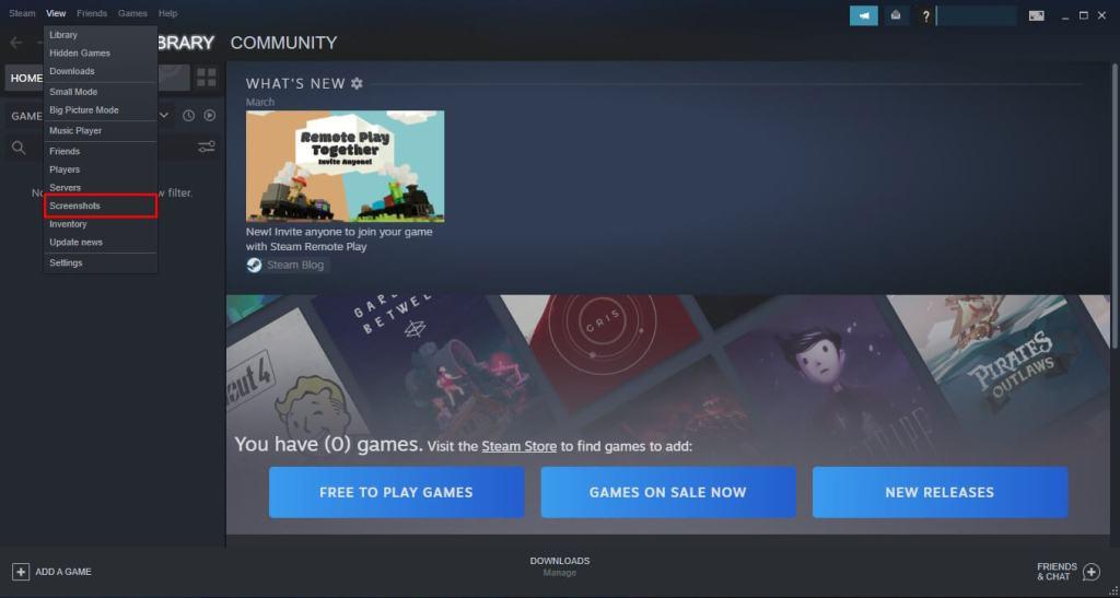 find screenshot using steam app