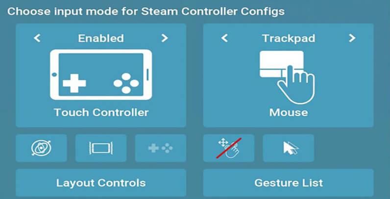 steam link input settings