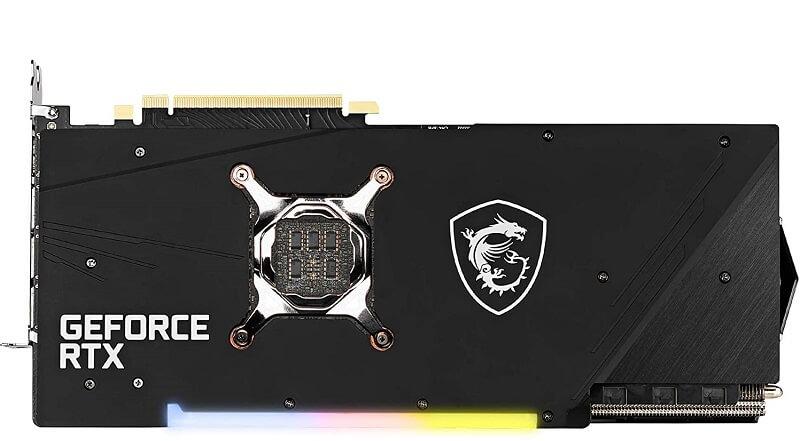MSI Gaming X Trio GeForce RTX 3080 back plate