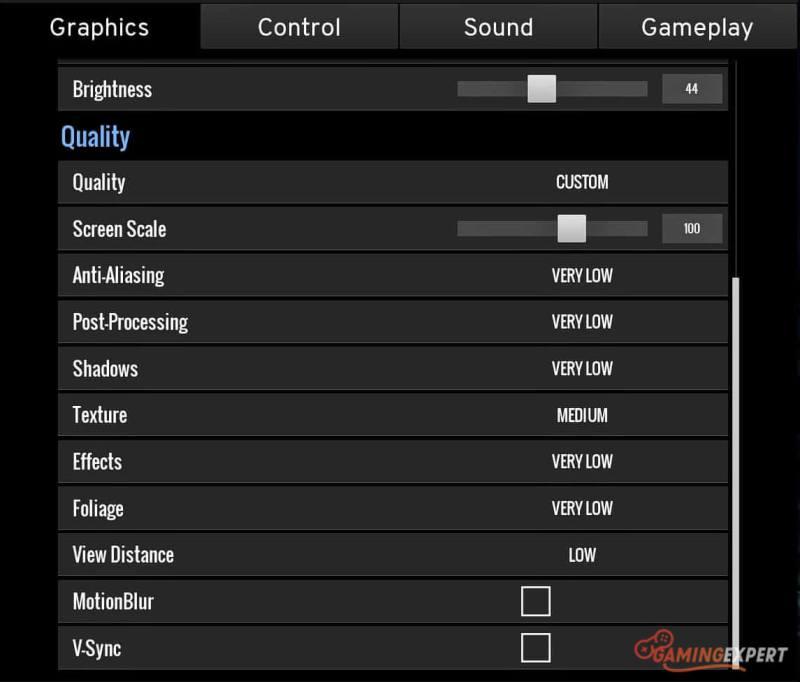 best advanced graphics settings for pubg