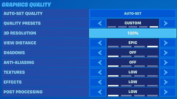 fortnite graphics quality settings