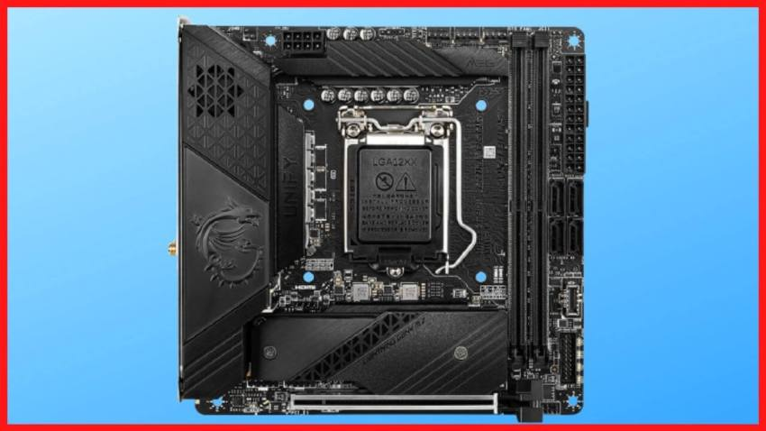 MSI MEG Z590I Unify Motherboard - front side image