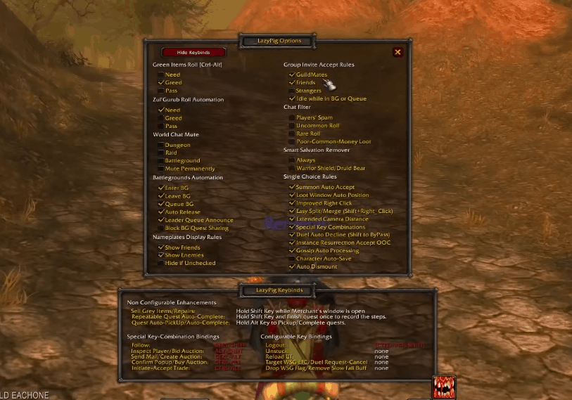 outo pick up wow classic addon