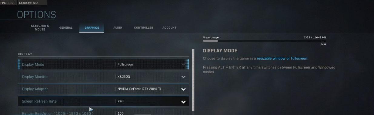 Shroud Modern Warfare Graphics Settings