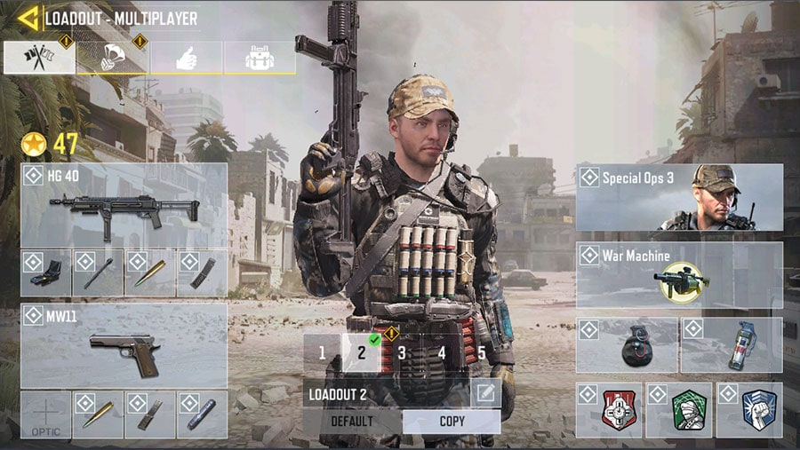 Loadouts & Scorestreaks Call of Duty Mobile