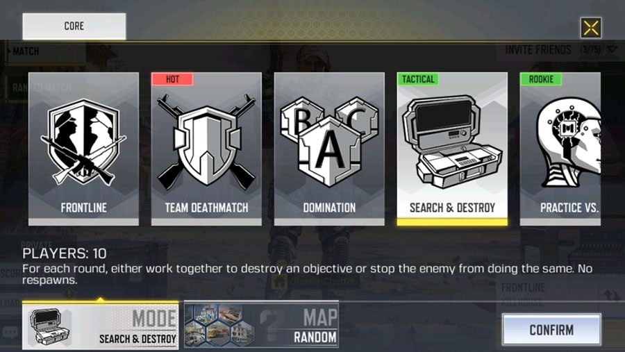 Search & Destroy Call of Duty Mobile