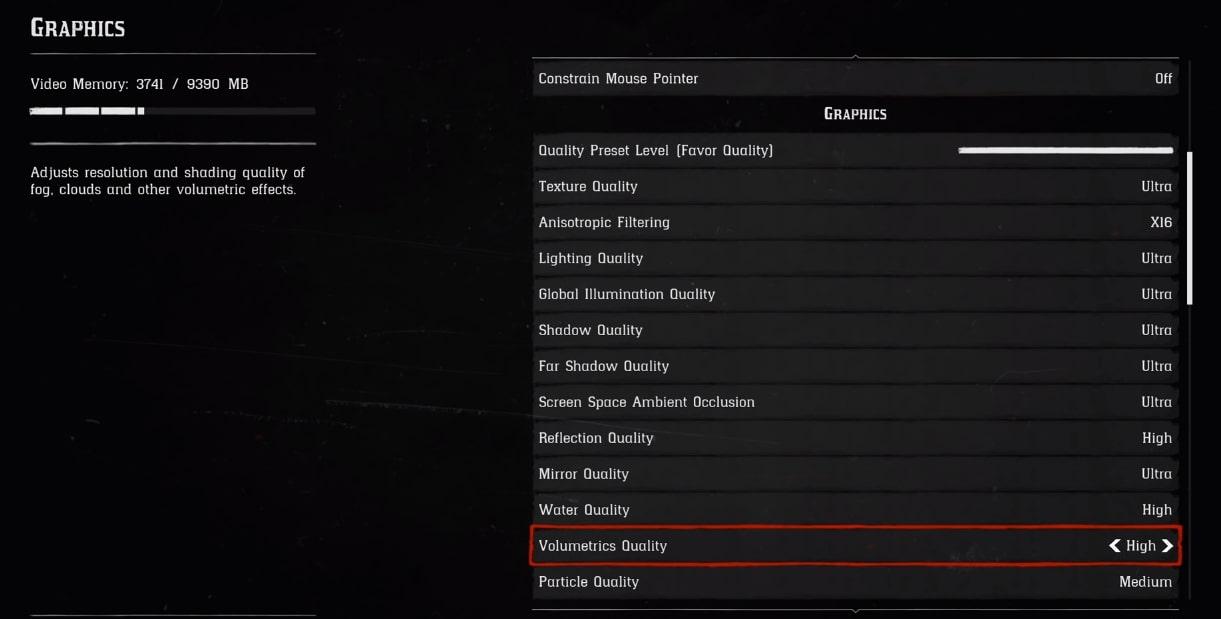 Red Dead Redemption Volumetrics Quality