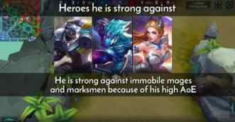 Heroes he is strong against