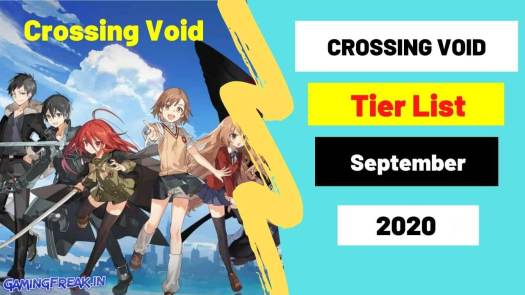Crossing Void Tier List 2020 Top 50 characters List