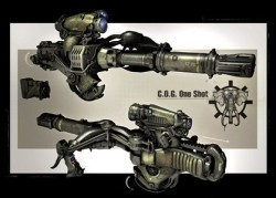 3d render of the gears of war 3 new weapon: one-shot