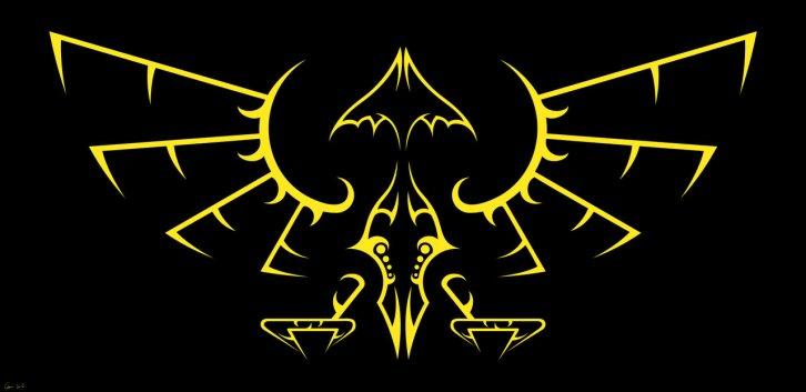 Hyrule emblem tribal design