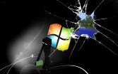 enderman wallpaper smashed windows minecraft