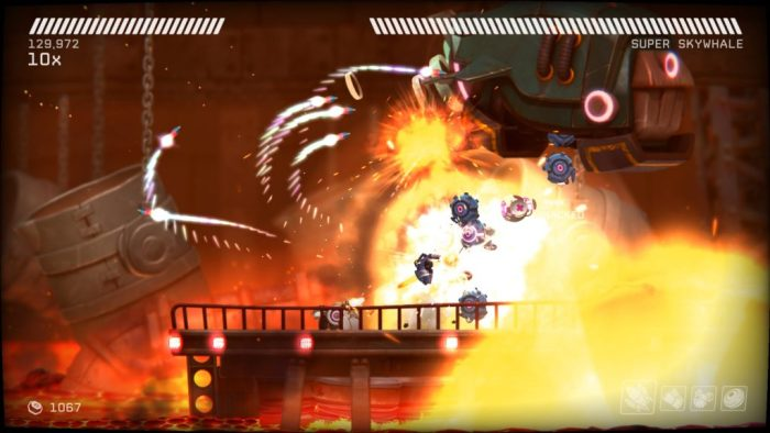 RIVE excels when the player is fighting bosses.