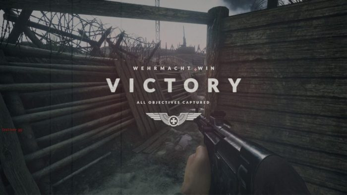 Days of War victory screen