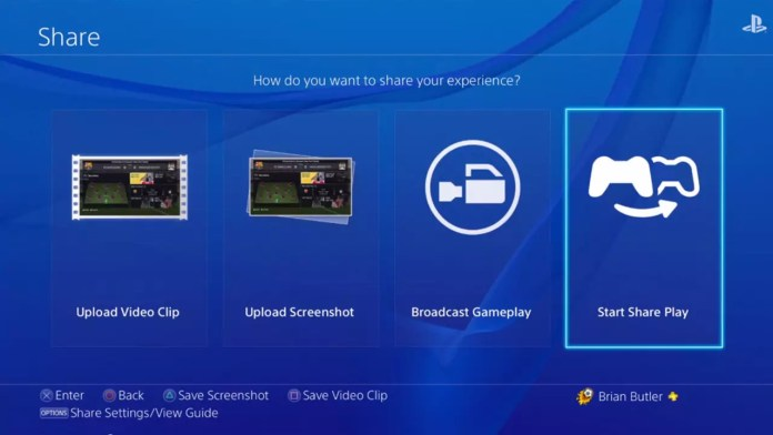 Share Play PlayStation 4