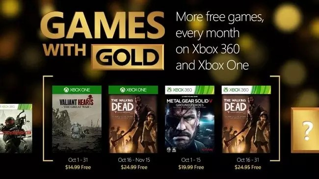 Games With Gold Ottobre 2015