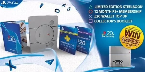 PlayStation 20 anniversario steelbook