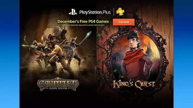 PS Plus Dicembre 2015 PS4