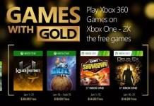 Games with Gold gennaio 2016