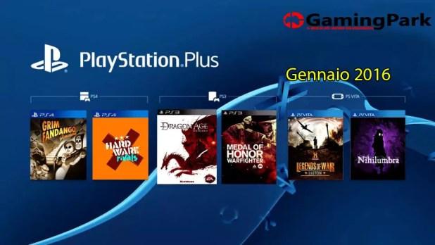PlayStation Plus Gennaio