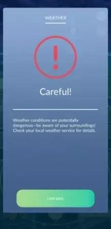 allerta meteo pokémon go