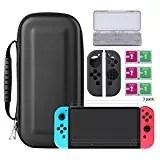 Bestico Protector Kit per Nintendo Switch, Switch Accessori 7 in 1 include Nintendo Switch Custodia/Case per Game Card /3pcs HD Pellicole Protettive per Nintendo Switch / Cover Protettiva in silicone Joy-Con