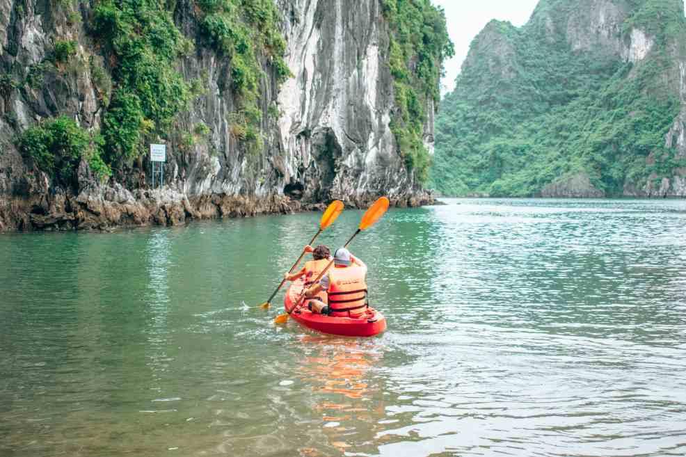 visiting Hanoi: Kayaking Halong Bay, things to do in Hanoi