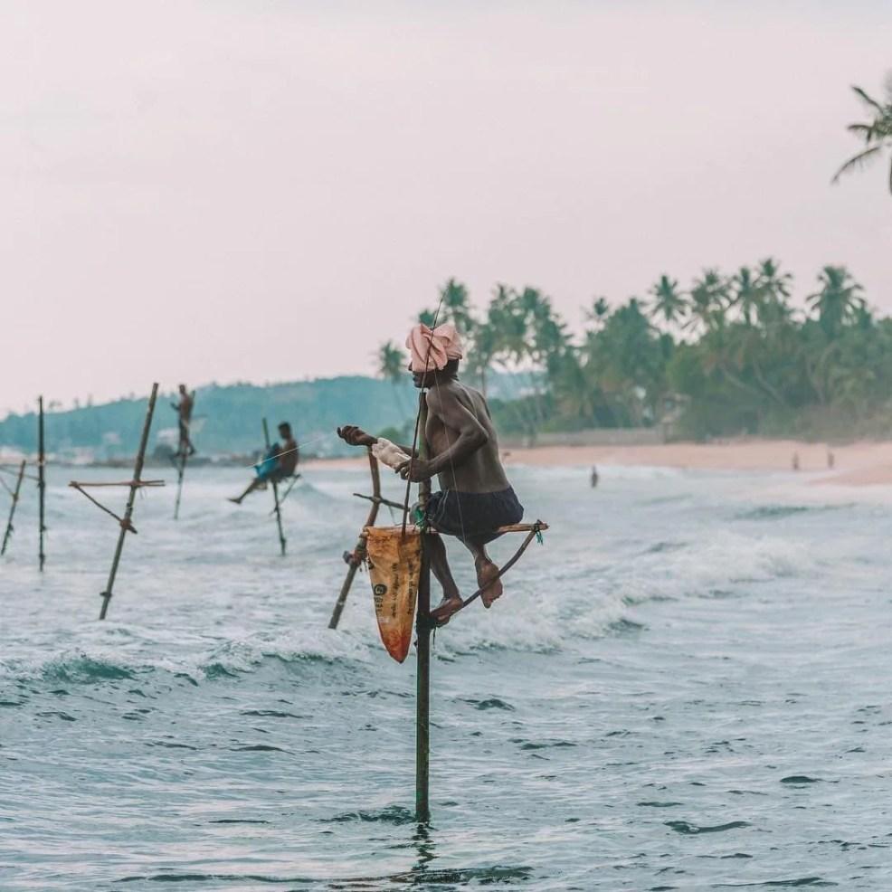 Fishermen in Unawatuna, Sri Lanka tourist spots