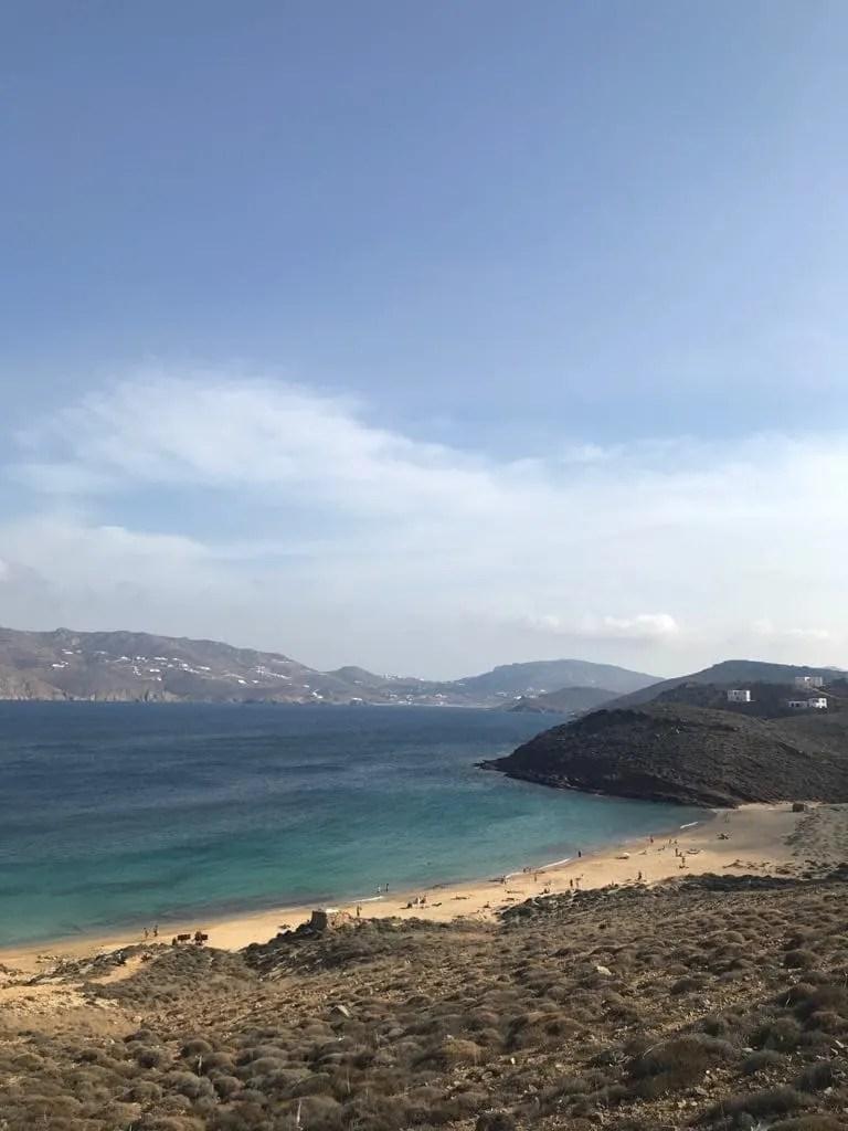 Things to do in Mykonos, Places to visit in Mykonos, Food to try in Mykonos, agios sotis beach in mykonos