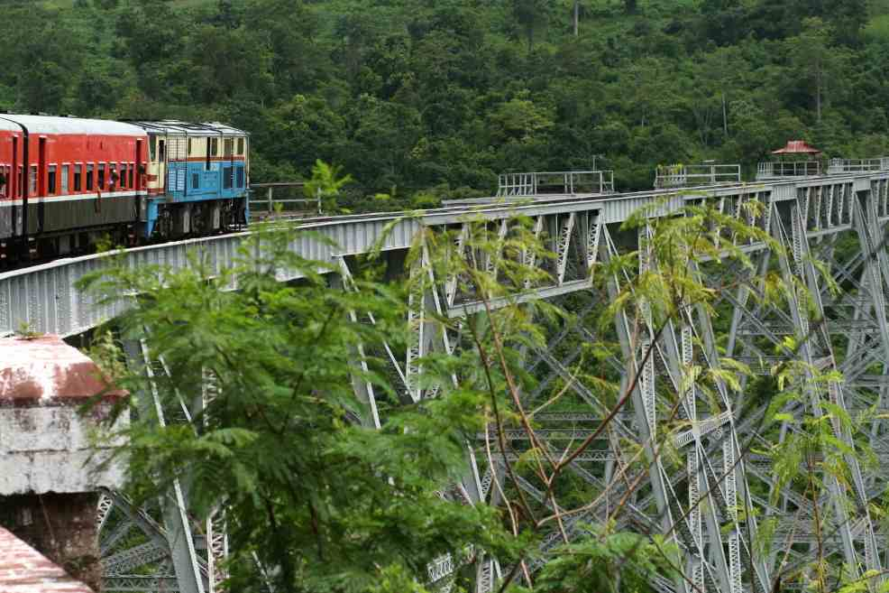 Gokteik viaduct, instagrammable places in Myanmar