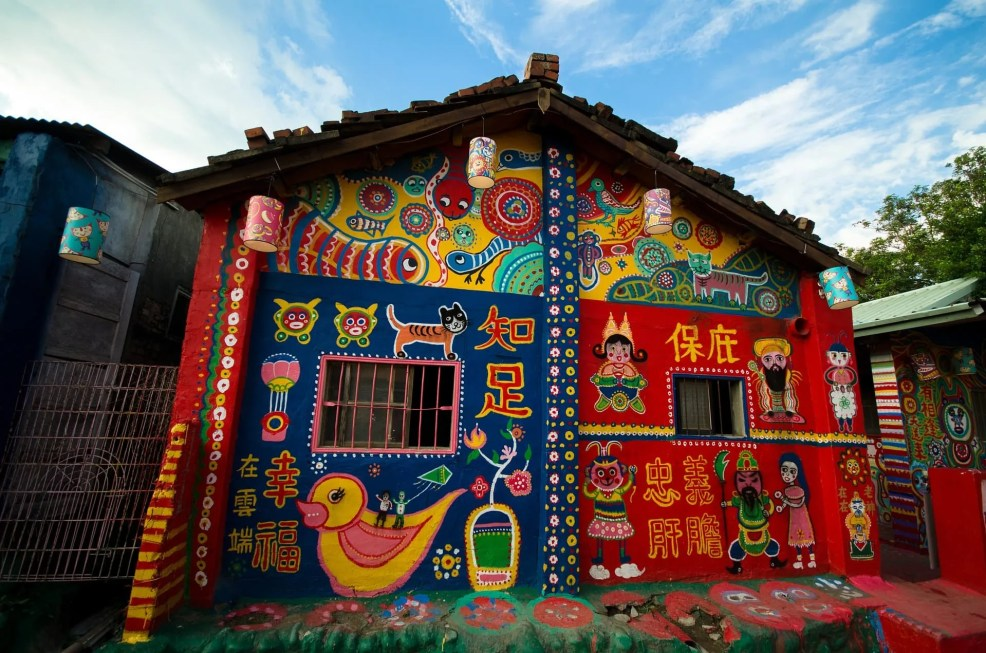 rainbow village, instagrammable places in taiwan
