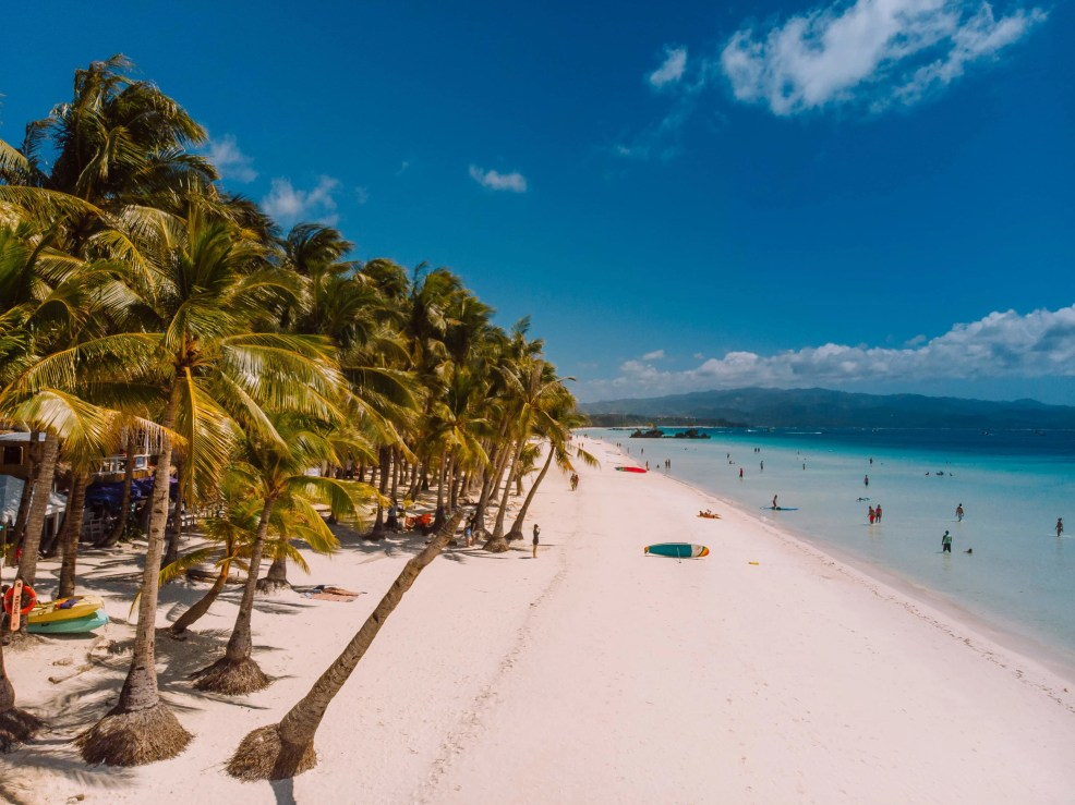 How to get to Boracay Island, Things to do in Boracay Island, Boracay island travel guide, budget travel in boracay island, Boracay Island, White Beach, Drone shot, drone shot white beach