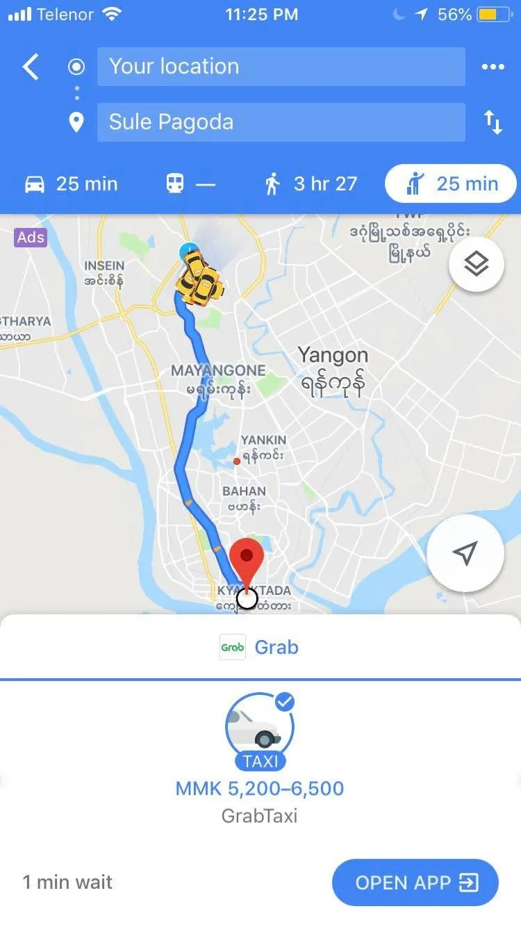 How to get to Yangon City Center from the airport, how to get to yangon from Yangon international airport, how to get to Yangon from the airport