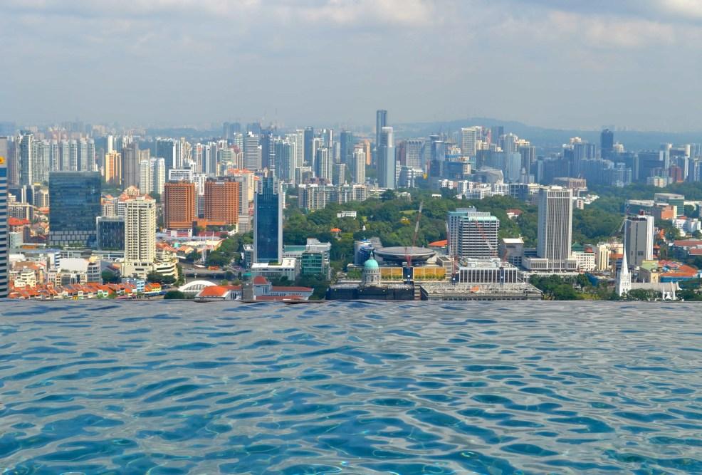 Infinity pool at Marina Bay Sands, Singapore tourist spots
