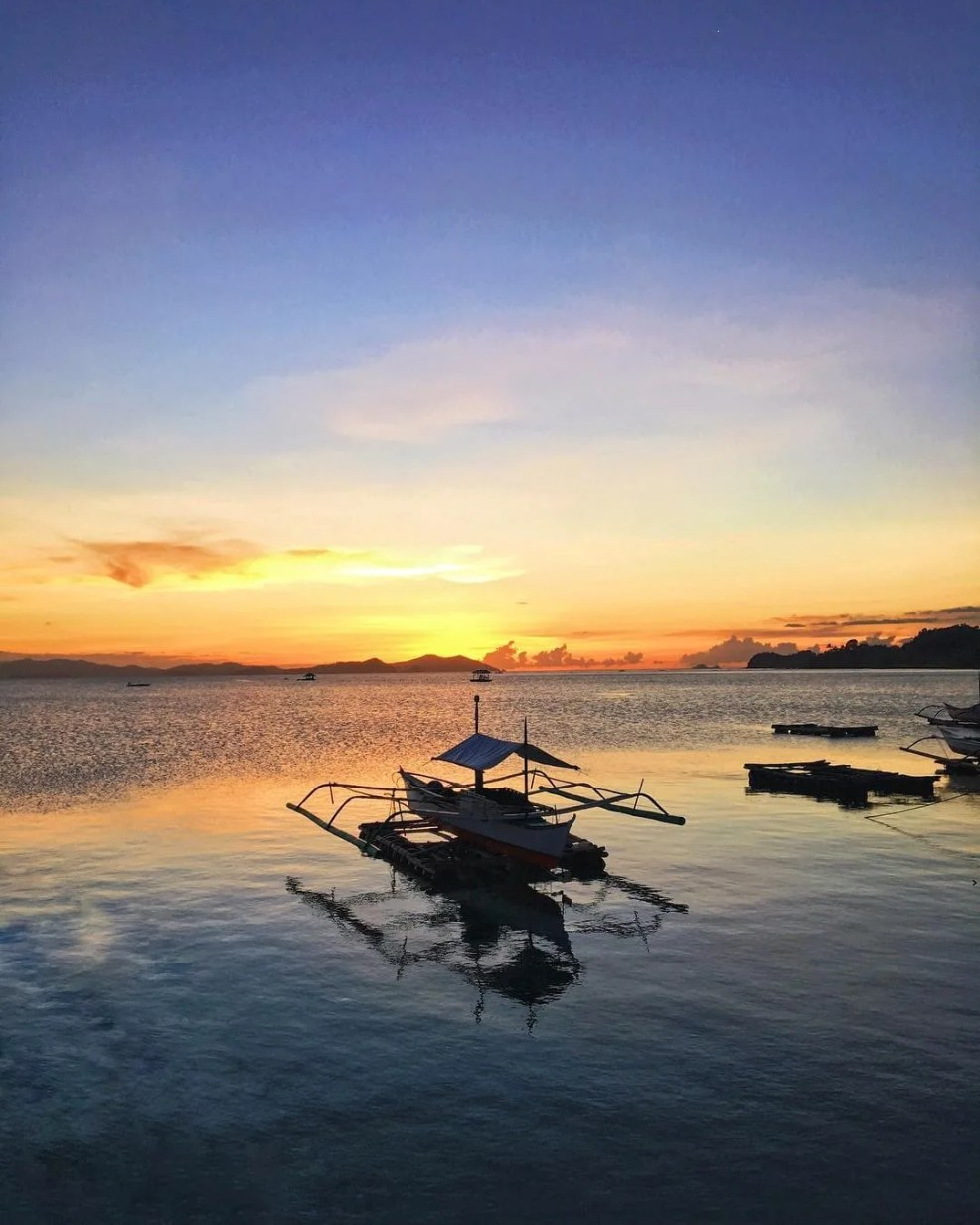sunsets in the Philippines, sunset in San Vicente Palawan
