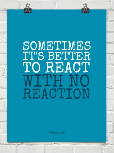 No Reaction