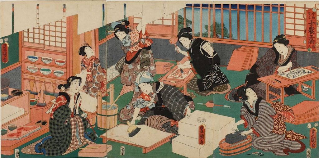 Utagawa_Kunisada_(1857)_Imayō_mitate_shinō_kōshō_yori_shokunin