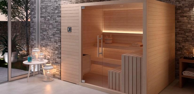 Baño wellness en casa. Como crear tu propio spa en casa. Sauna en casa.
