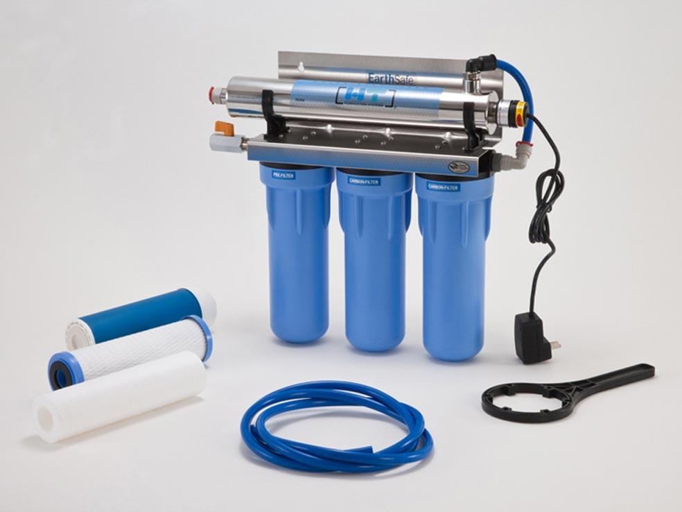 tratamiento de rayos UV para purificar el agua