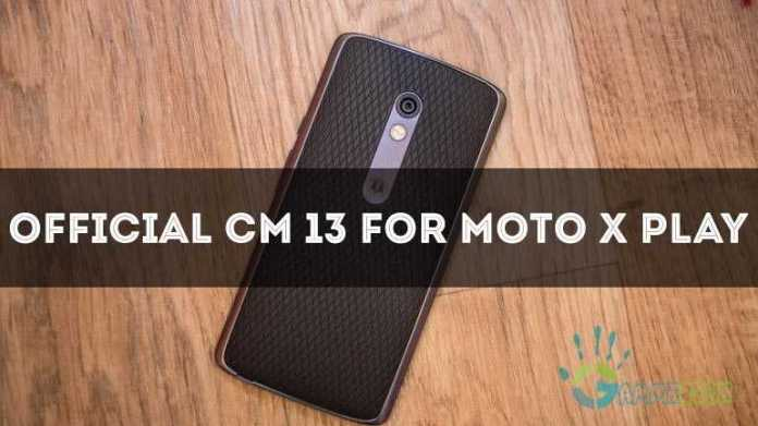 official cm13 for Moto X play