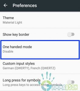 How to Enable One handed mode
