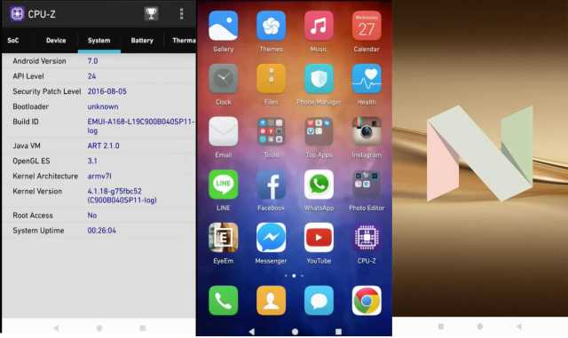 Huawei P9 android nougat 7.0