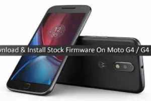 How to Restore Stock Firmware Of Moto G4
