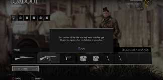 """Sniper Elite 4 Ultimate """"This portion of the title has not been installed yet""""."""