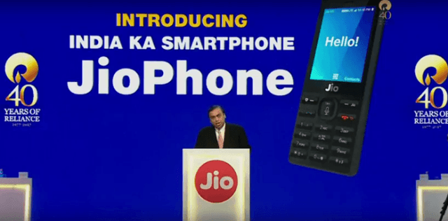 Reliance Jio 4G Feature Phone Launched For Free