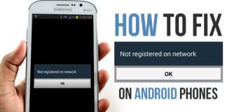 fix not registered on network on Android