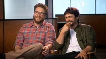 Seth Rogen e James Franco durante un'intervista