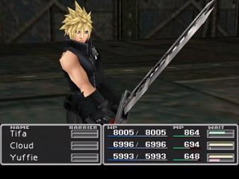 Un'immagine di gioco di Final Fantasy VII